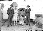 Portrait of four men and women aboard a ship on Sydney Harbour (7397715314).jpg