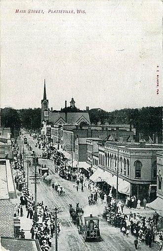 Platteville, Wisconsin - Main Street, about 1910