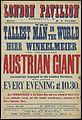 Poster; The tallest man in the world Wellcome L0063538.jpg