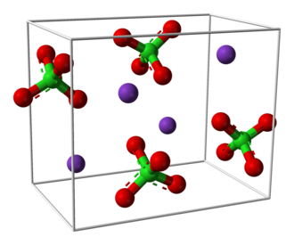 Sodium permanganate - Image: Potassium perchlorate unit cell 3D balls perspective