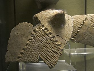Neolithic Italy - Pottery fragment of the Stentinello culture