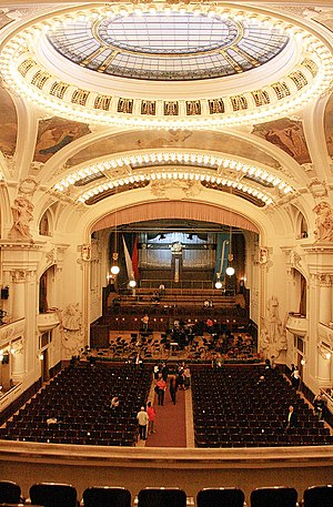 Prague Spring International Music Festival - The Municipal Hall (Smetana Hall) in Prague, Czech Republic, serves as one of the main venues in the annual Prague Spring Festival.