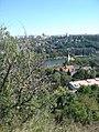 Praha - Dívčí hrady - View SE on Church of Zlíchov.jpg