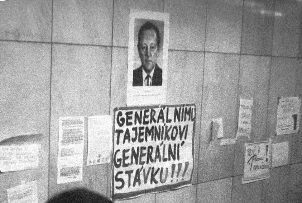 Praha 1989, generálnímu tajemníkovi generální stávku (01)