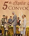 Pranab Mukherjee presenting the Honoris Causa D (Science) to the Director General of CERN, Prof. Rolf-Dieter Heuer, at the 5th convocation of National Institute of Technology, at Agartala, in Tripura. The Governor, Tripura.jpg
