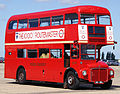 Preserved Routemaster bus RM1000 (100 BXL), 2010 North Weald bus rally (1).jpg