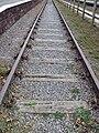 Preserved track, Hadlow Road railway station 2.JPG