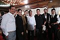 President Rodrigo R. Duterte poses for a photo with guests during a dinner.jpg