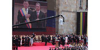 Presidente Juan Manuel Santos en su posesi%C3%B3n