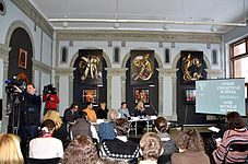 Press conference about 56 Venice Biennale in Contemporary Art Center, Minsk 21.01.2015 08.JPG