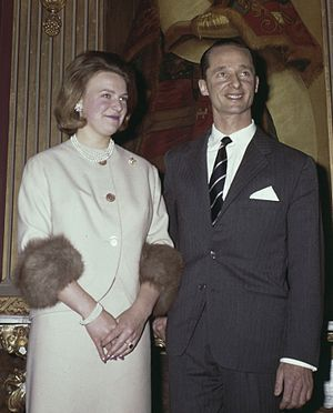 Princess Irene of the Netherlands - Princess Irene with Carlos Hugo in 1964.