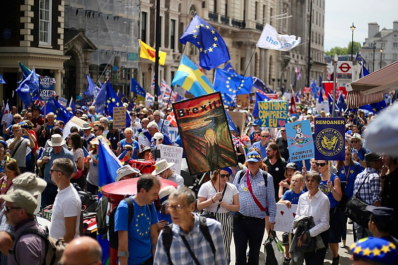 File:Pro-EU march for a people's vote on Brexit, London, June 23, 2018 25.jpg