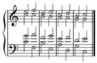 Dominant (music) - Image: Progresión quintas