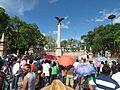 Protesta en favor de los profesores de Oaxaca, en la plaza principal de Aguascalientes (junio, 2016) 21.jpg