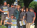 Proud to stand with the hardworking women and men of United Steelworkers at their rally in Washington, D.C. Michigan workers can out-build, out-work, and out-think anyone! (41425945525).jpg