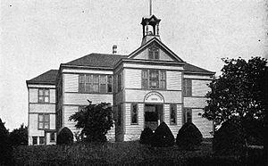 Wetmore, Kansas - Public school in Wetmore (1916)