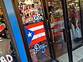 Puerto Rican Day Parade Sign in Sunset Park Window.JPG