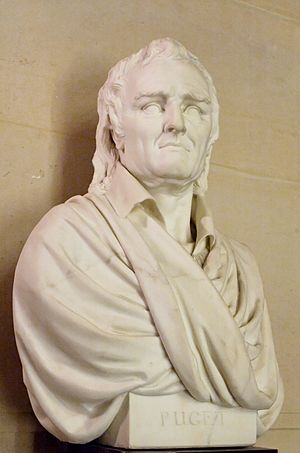 François-Nicolas Delaistre - Bust of French sculptor Pierre Puget by François-Nicolas Delaistre, The Louvre, 1827
