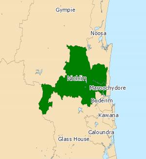 Electoral district of Nicklin - Electoral map of Nicklin 2008