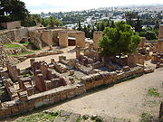 Ruins of Punic houses on the Byrsa Hill