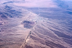 La Posa Plain - Image: Quartzsite, Arizona, seen from the air