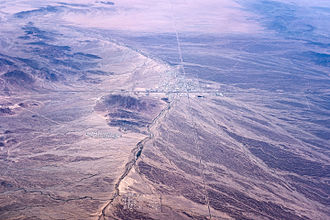 La Posa Plain - Image: Quartzsite, Arizona, seen from the air