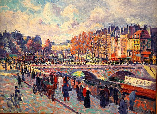 Quayside by the Seine in Paris