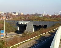 "The two major filming locations of the episode: the desert of Dubai was used for scenes on the ""planet of the dead""; and the Queen's Gate Tunnel in Butetown, Cardiff was used for the majority of Earth-bound scenes."