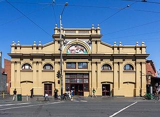 open-air street market in Melbourne, Australia