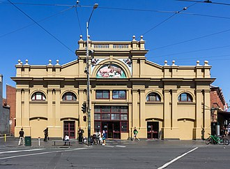 Queen Victoria Market - The façade of the Meat and Fish Hall building