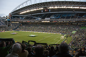 Seattle Sounders FC - Supporters in the lower bowl of CenturyLink Field