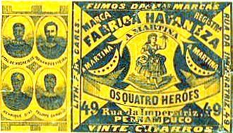 André Vidal de Negreiros - Image: Rótulo de cigarro. Os Quatro Heróis