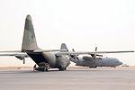 RAAF C-130 finishing loading cargo in Iraq during 2008.jpg