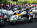 ROC Military Police Motorcycles Parked under Trees Shadow of Military Police School Ground 20120908.jpg