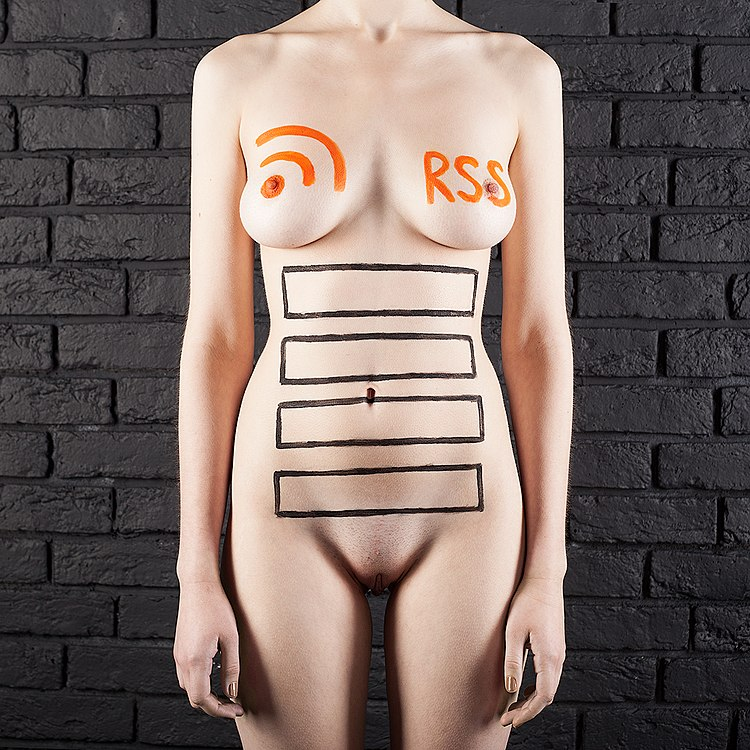 RSS feed icons painted on a naked woman (by Exey Panteleev).jpg