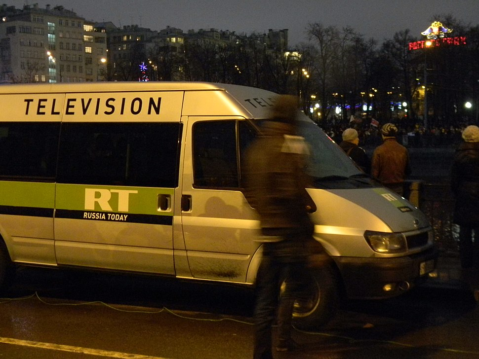 RT covering protests in Moscow on 1012