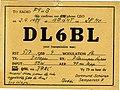 Radioamateurisme - Carte QSL de DL6BL (Allemagne) (1).jpg