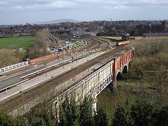 Severn Bridge Junction - Severn Bridge Junction as viewed from Shrewsbury Castle