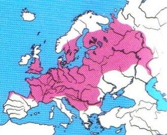 European bullhead - Total distribution of the Cottus gobio complex