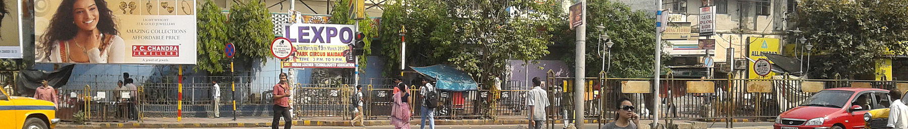 Rashbehari avenue and SP Mukherjee road crossing(Kolkata) (cropped).jpg