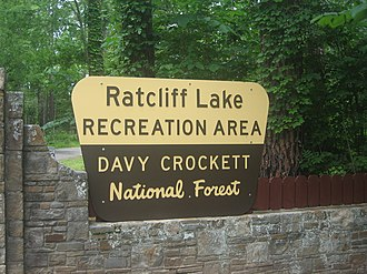 Ratcliff, Texas - Image: Ratcliff Lake sign IMG 0982