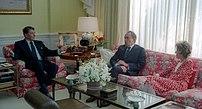 Former President Nixon visits then-President R...