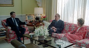 Reagans with Richard Nixon 1988