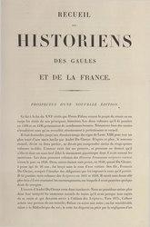 Martin Bouquet: Recueil des Historiens des Gaules et de la France