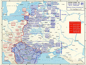 Reichskommissariat Ostland - Soviet operations, 19 August to 31 December 1944.