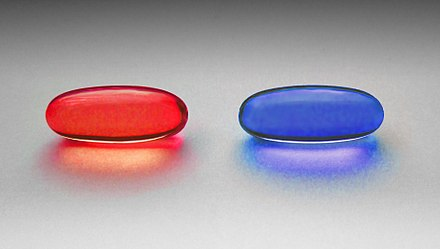 Red and blue pill.