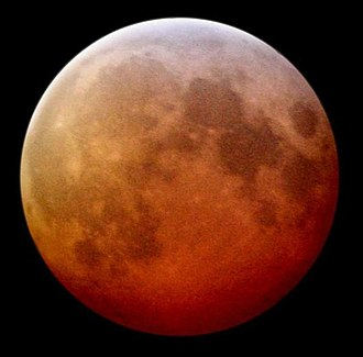 March 2007 lunar eclipse - Image: Red moon during lunar eclipse