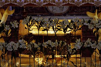 Paul of Thebes - Relics in Santa Maria in Porto, in Ravenna.