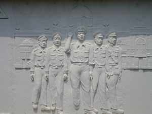 Sarit Thanarat - Relief of Sarit Thanarat's life in Khon Kaen, depicts his coup d'état in 1957.
