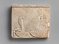 Relief plaque with Vulture and Cobra on baskets; falcon on opposite MET DP243426.jpg